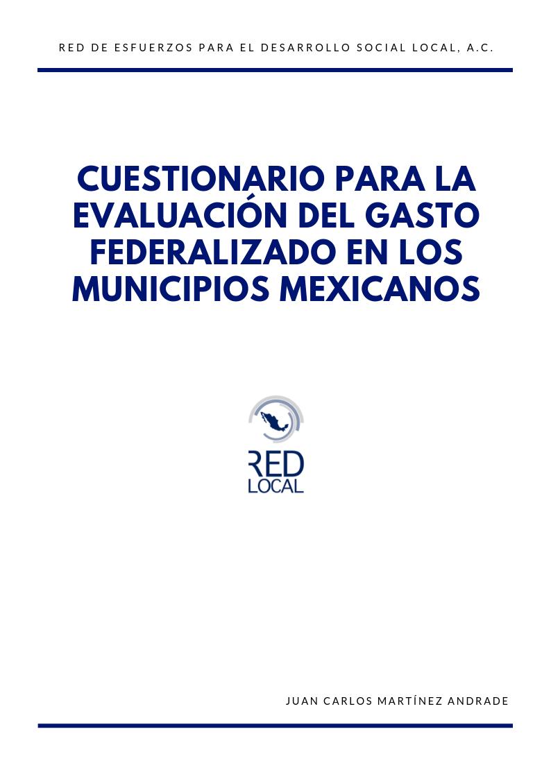 Cuestionario para la evaluación del gasto federalizado en los municipios mexicanos