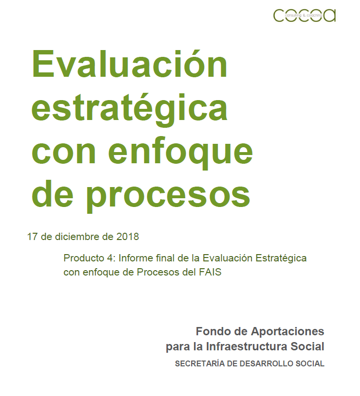 FAIS. Evaluación Estratégica con Enfoque de Procesos