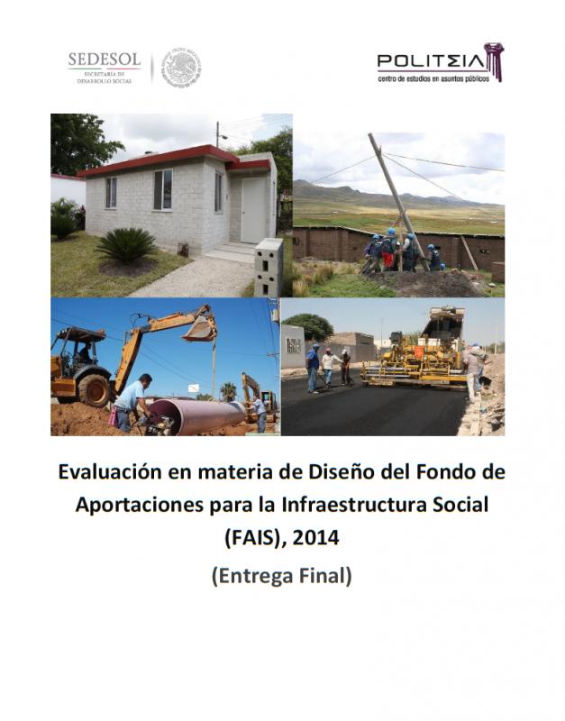 Evaluación en materia de Diseño del Fondo de Aportaciones para la Infraestructura Social (FAIS), 2014